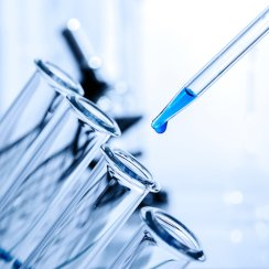Rapid Dose Therapeutics test tubes being filled with a solution